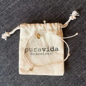 Pura Vida - Palm Tree Bracelet - Gold Charm